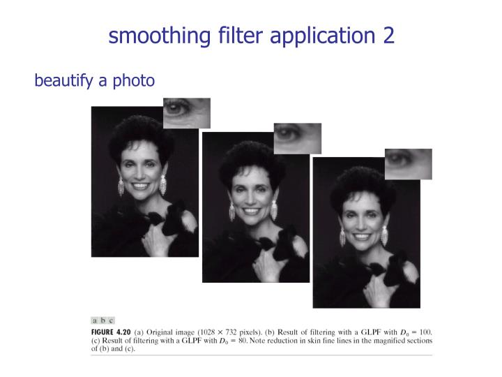 smoothing filter application 2