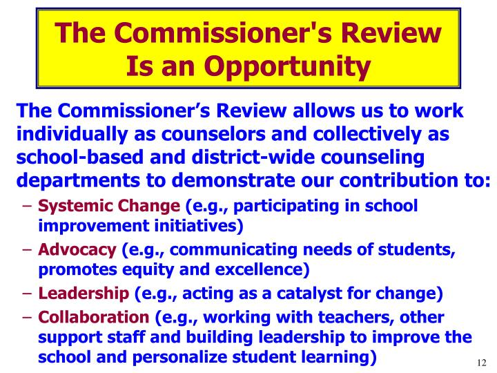 The Commissioner's Review