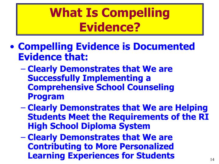 What Is Compelling Evidence?