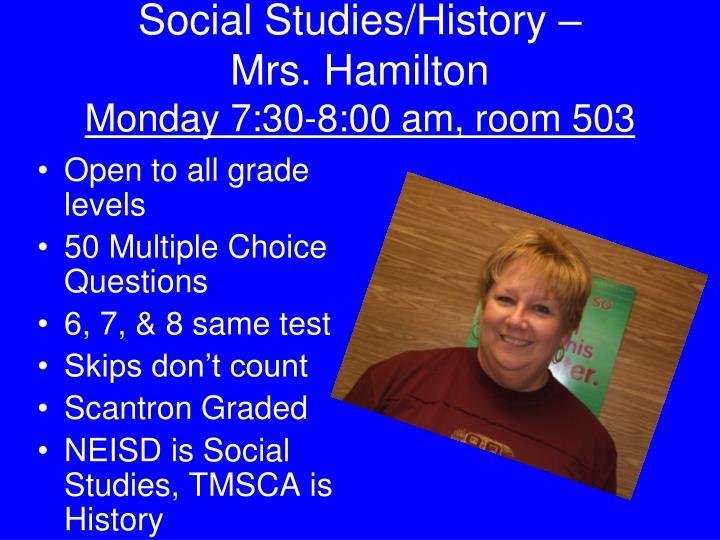 Social Studies/History –