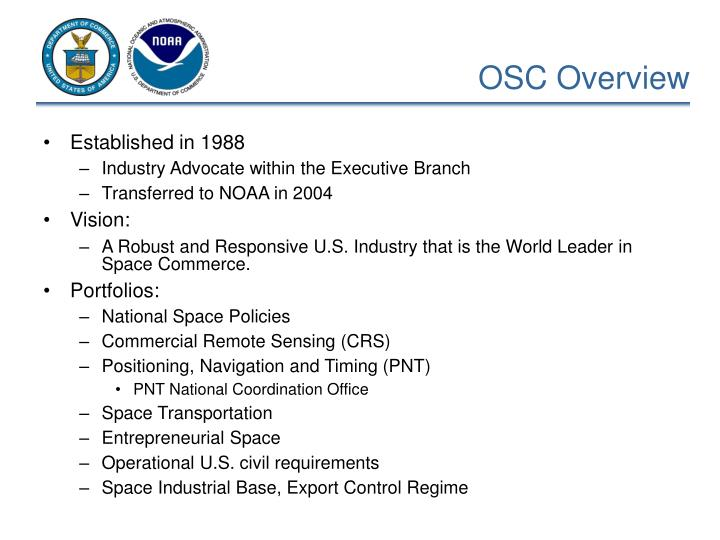 Osc overview