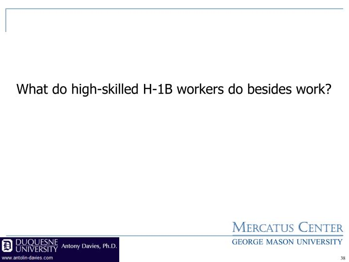 What do high-skilled H-1B workers do besides work?