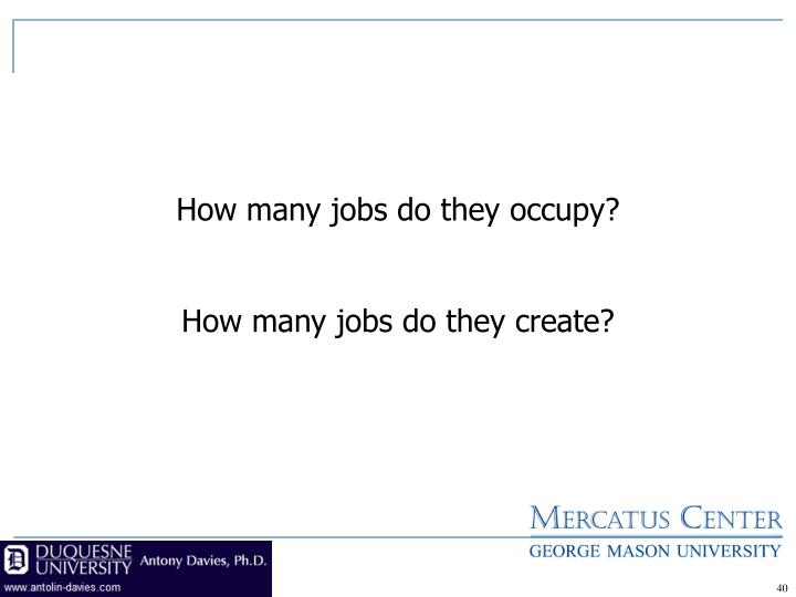 How many jobs do they occupy?
