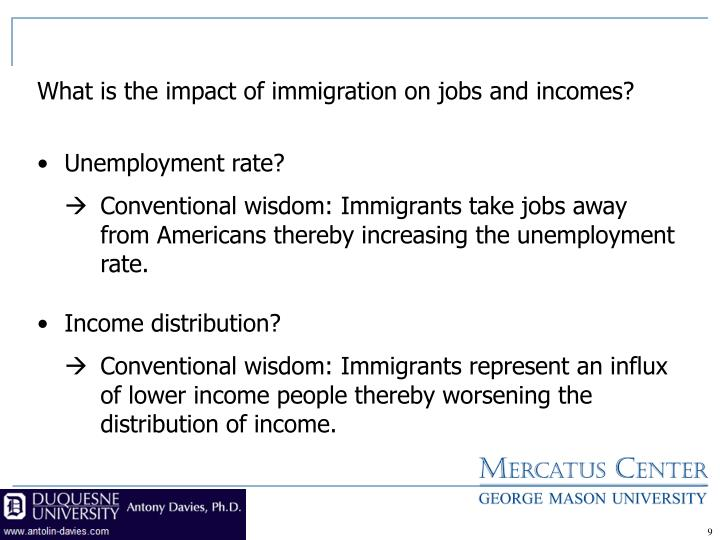 What is the impact of immigration on jobs and incomes?