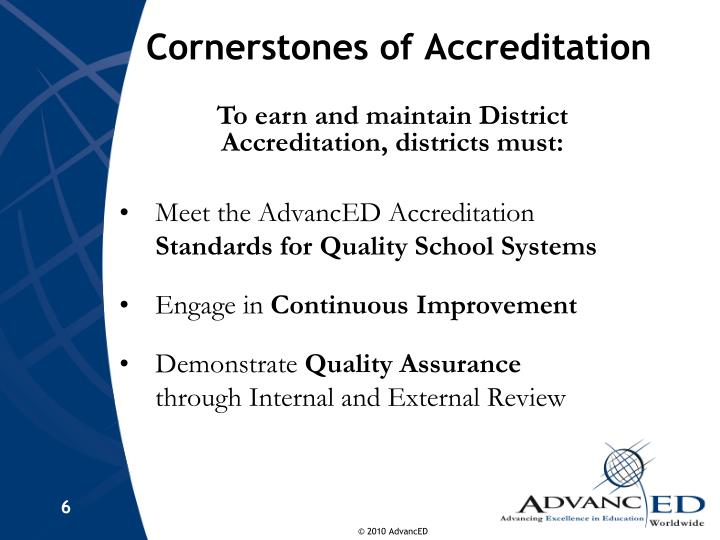 Cornerstones of Accreditation