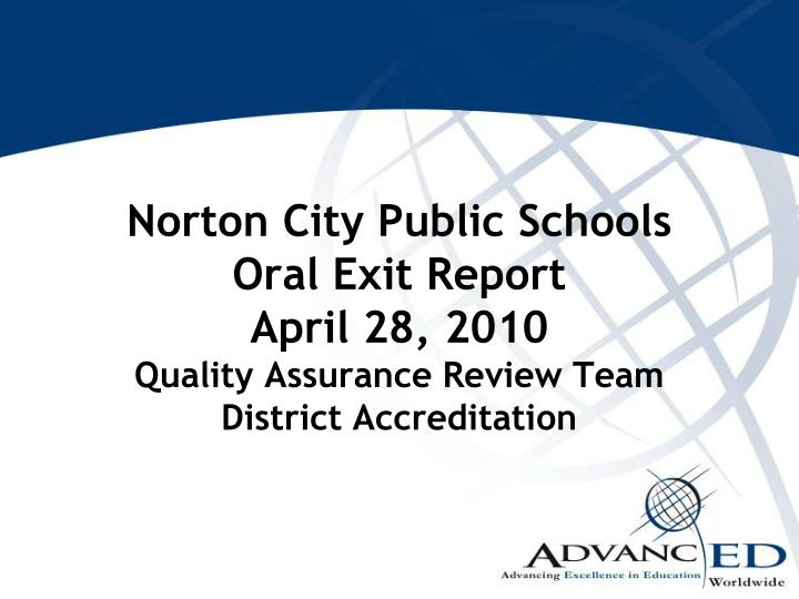Norton City Public Schools
