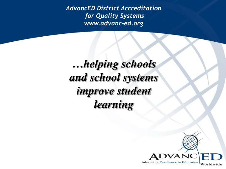 AdvancED District Accreditation