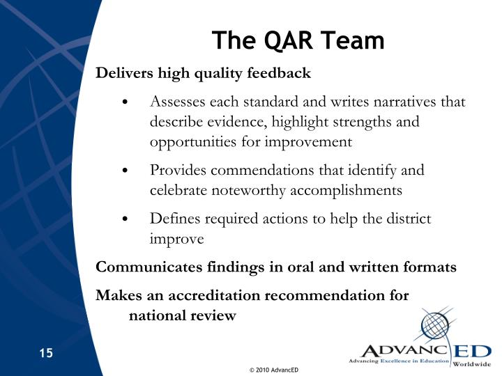 The QAR Team