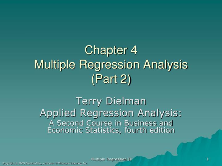 an analysis of the topic of the multiple regressions and multiple correlations Regression analysis of variance table page 18 the topic of another document multiple regression: we have new predictors.