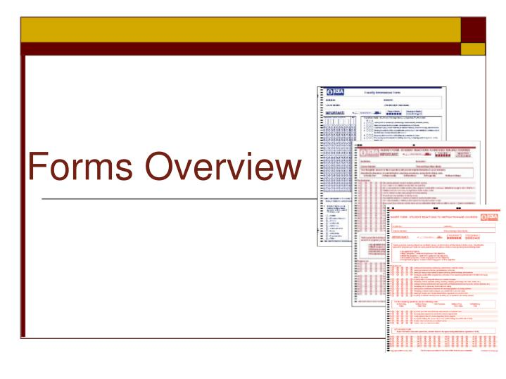 Forms Overview