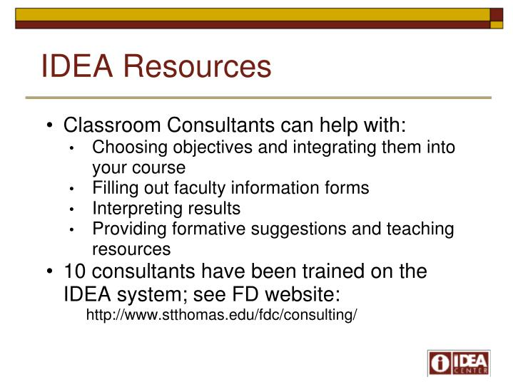 IDEA Resources