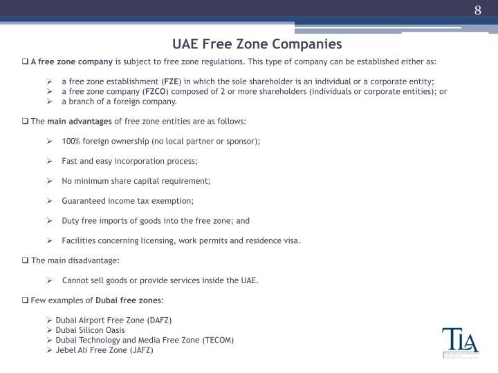 UAE Free Zone Companies