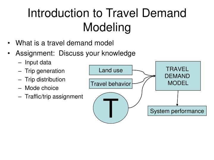 Introduction to Travel Demand Modeling