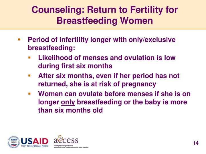 Counseling: Return to Fertility for