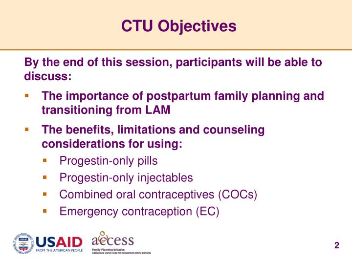 Ctu objectives