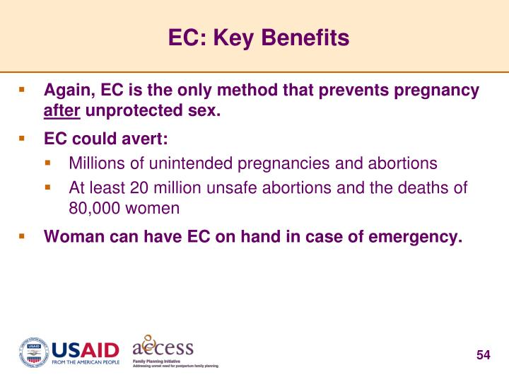 EC: Key Benefits