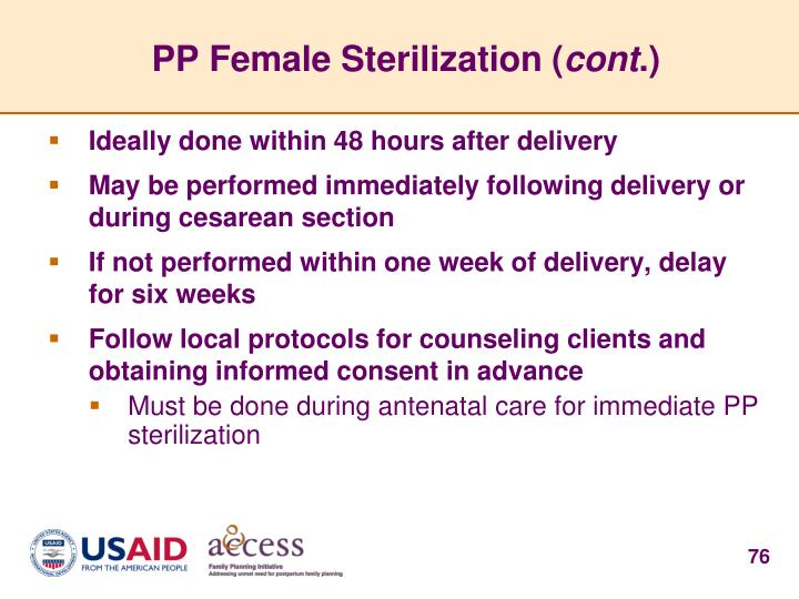 PP Female Sterilization (