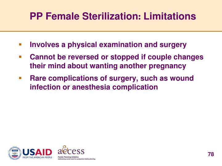 PP Female Sterilization