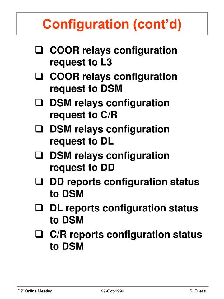 Configuration (cont'd)