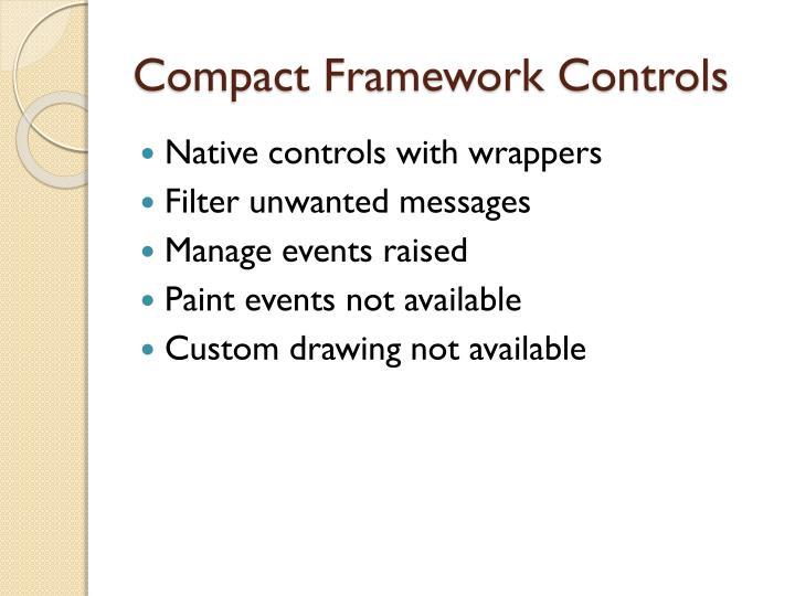 Compact Framework Controls