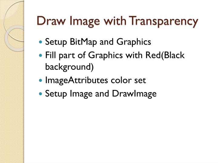 Draw Image with Transparency