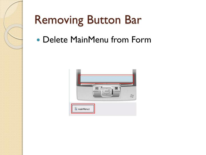 Removing Button Bar