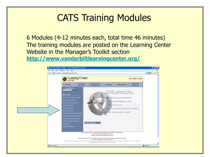 CATS Training Modules