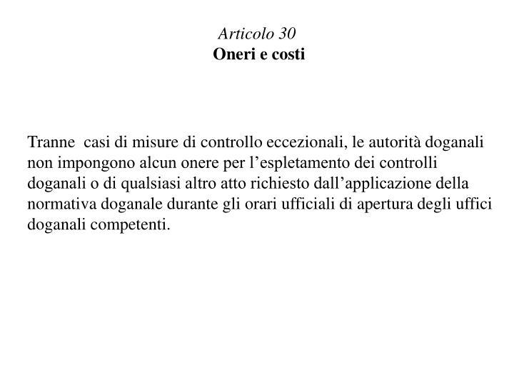 Articolo 30
