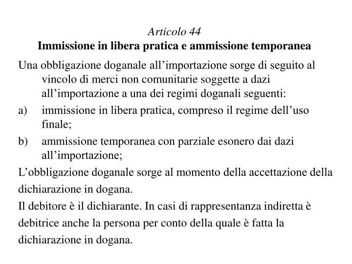Articolo 44