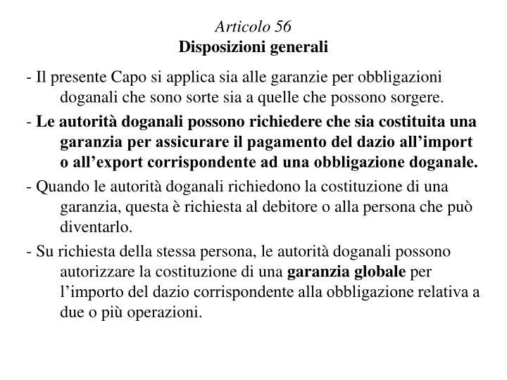Articolo 56