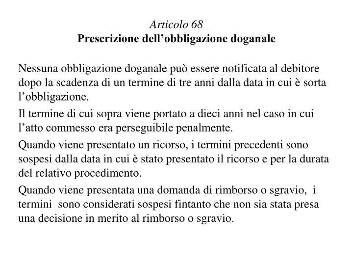 Articolo 68