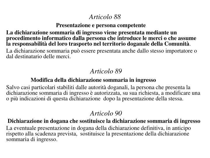 Articolo 88