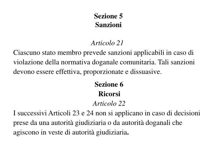 Sezione 5