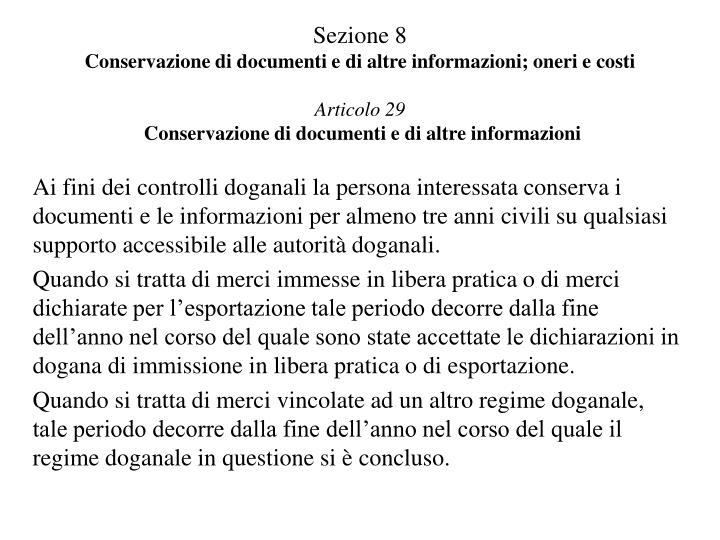 Sezione 8