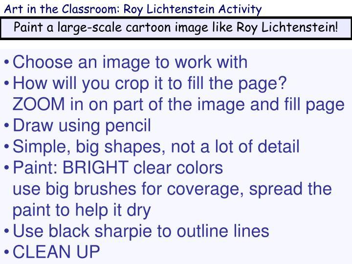 Art in the Classroom: Roy Lichtenstein Activity