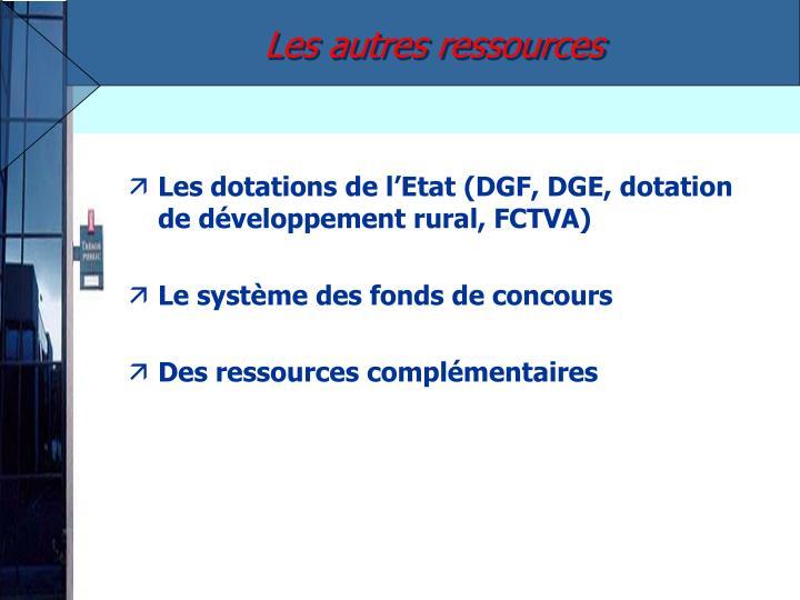 Les autres ressources