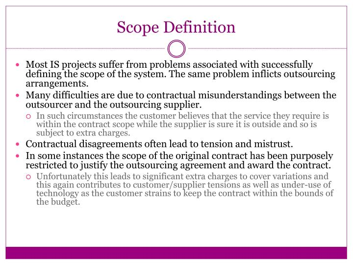 Scope Definition