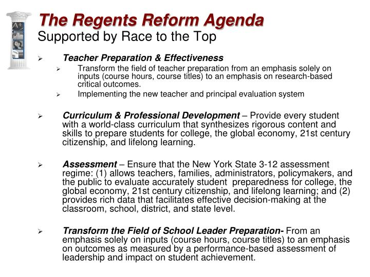 The Regents Reform Agenda