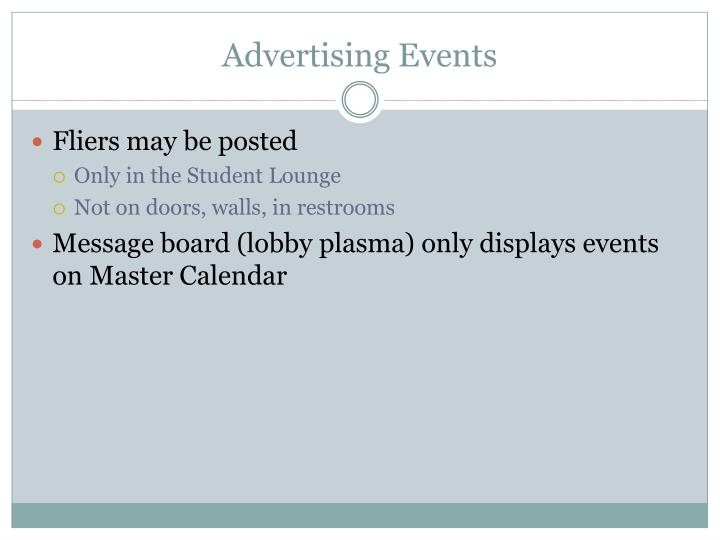 Advertising Events