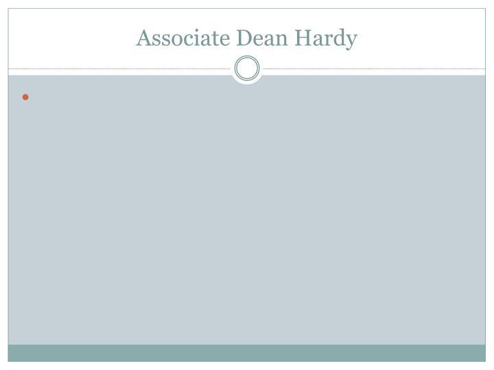Associate Dean Hardy