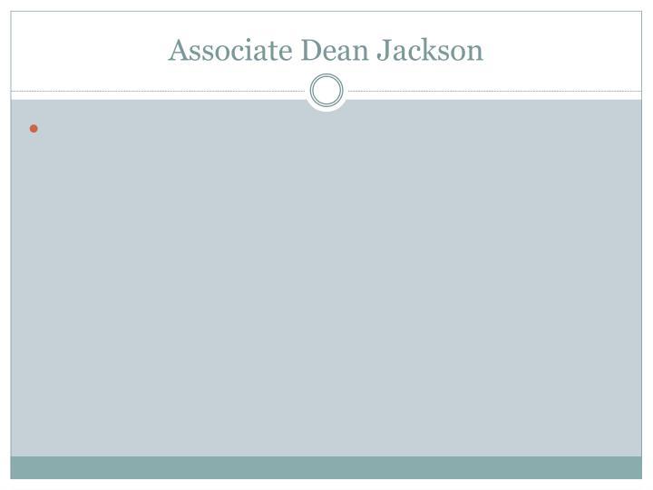 Associate Dean Jackson