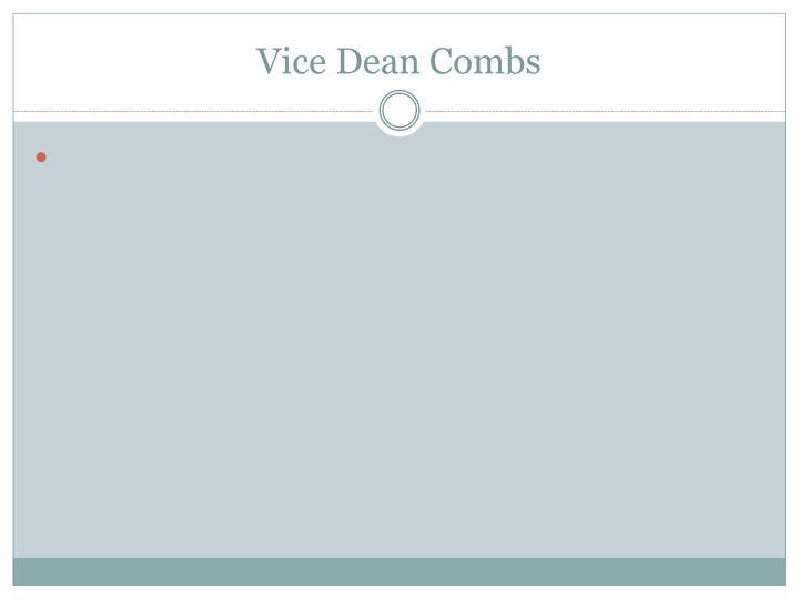 Vice Dean Combs