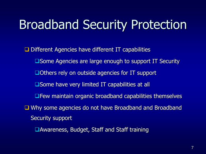 Broadband Security Protection