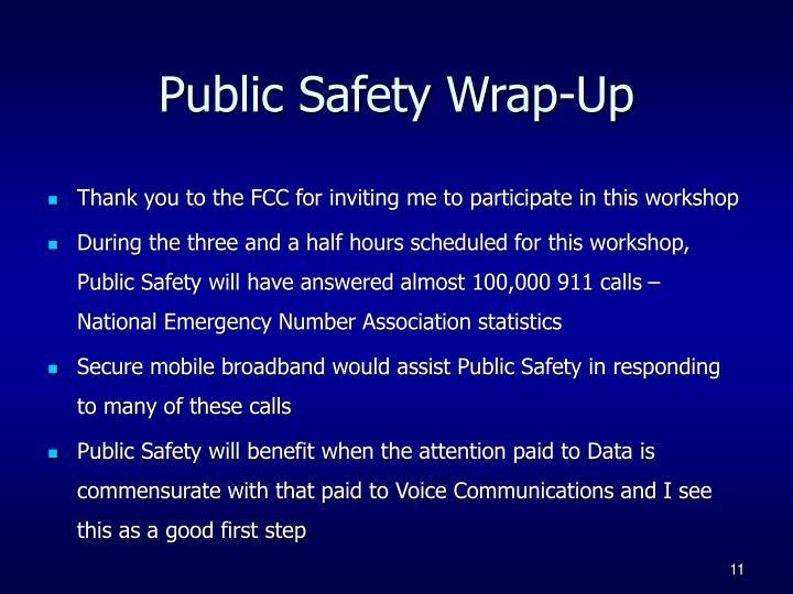 Public Safety Wrap-Up