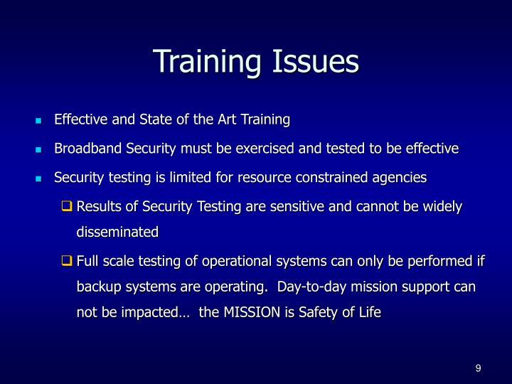 Training Issues