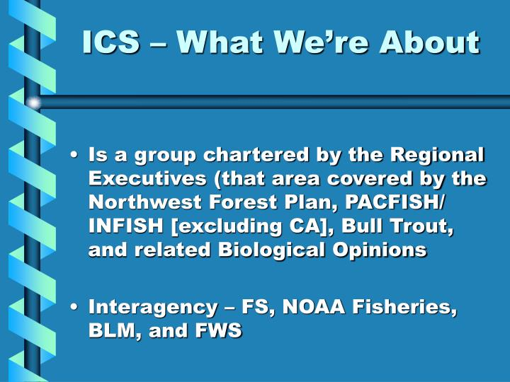 ICS – What We're About