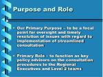 purpose and role