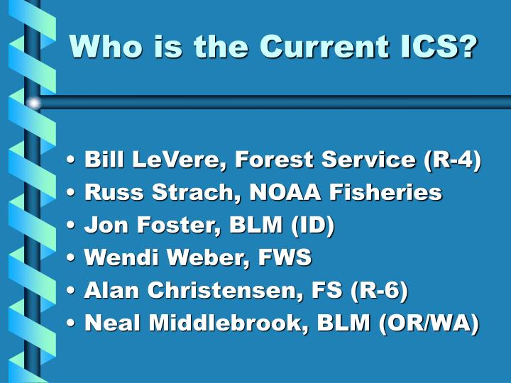 Who is the Current ICS?