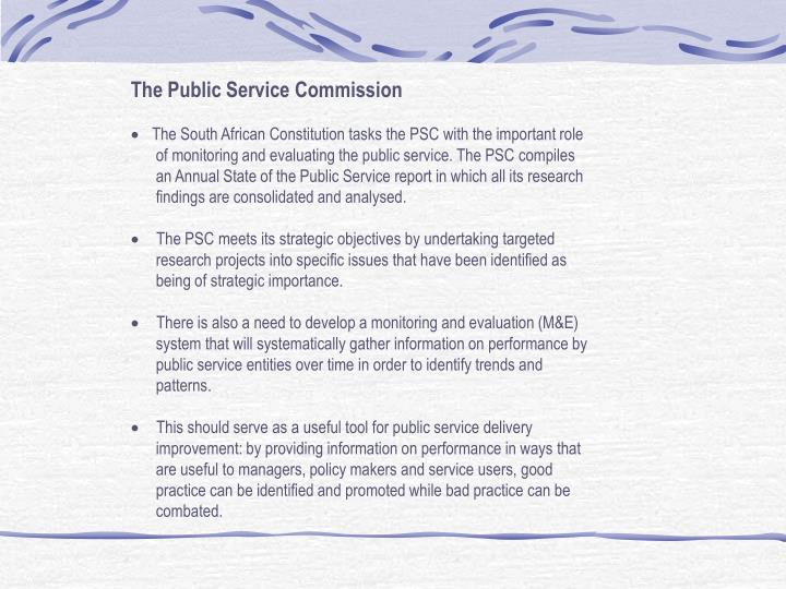 The Public Service Commission