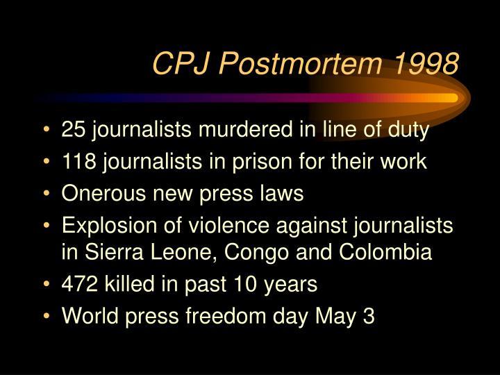 CPJ Postmortem 1998